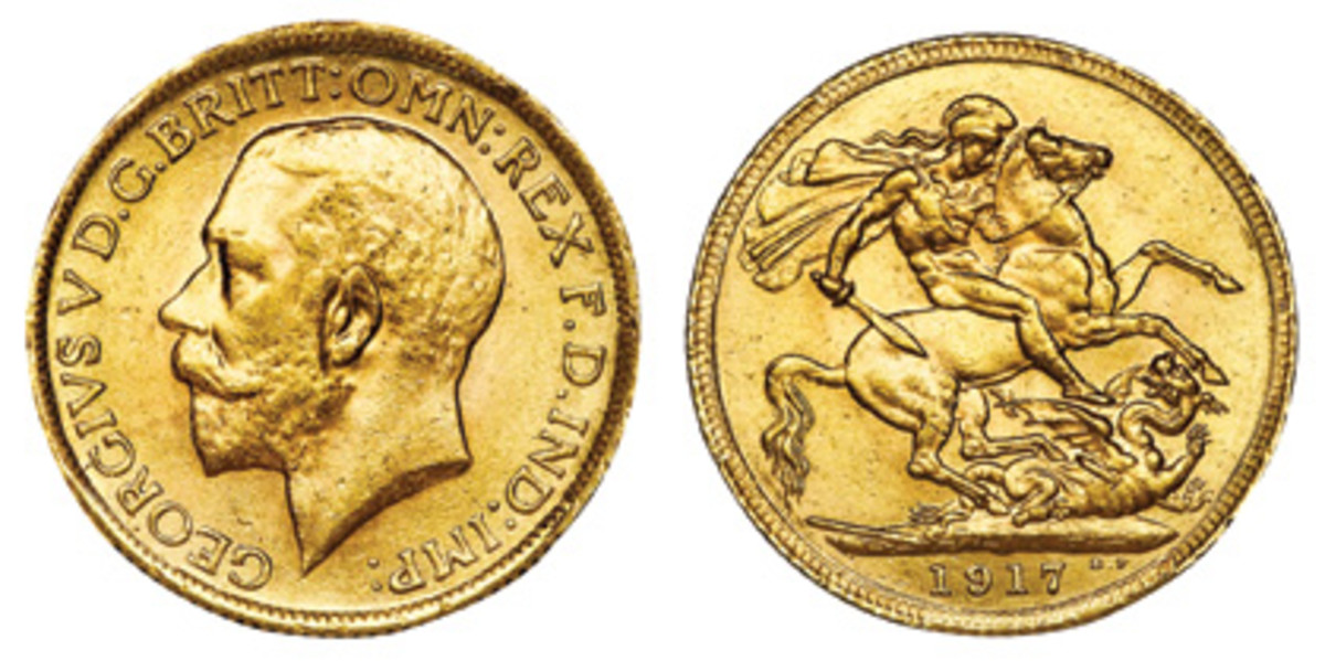 Unlike the 1917, many British sovereigns were minted by the millions.
