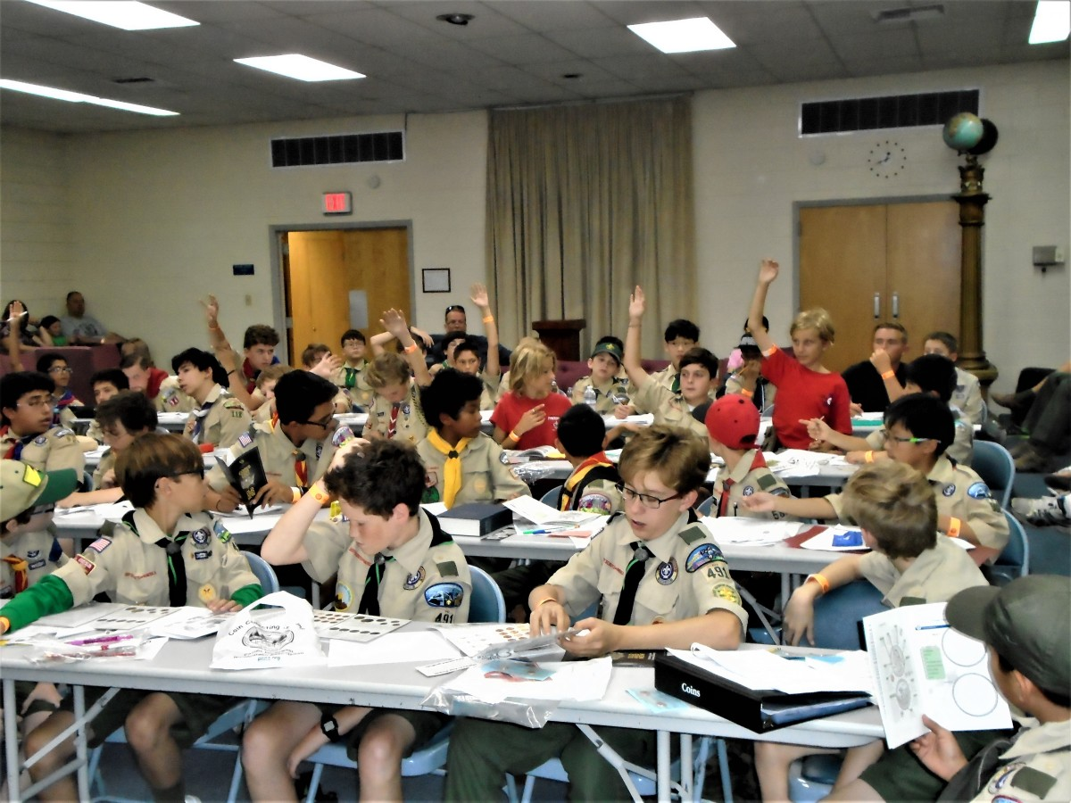 Boy Scouts could earn a merit badge at a workshop held during the Golden State Coin Show in Arcadia, Calif.