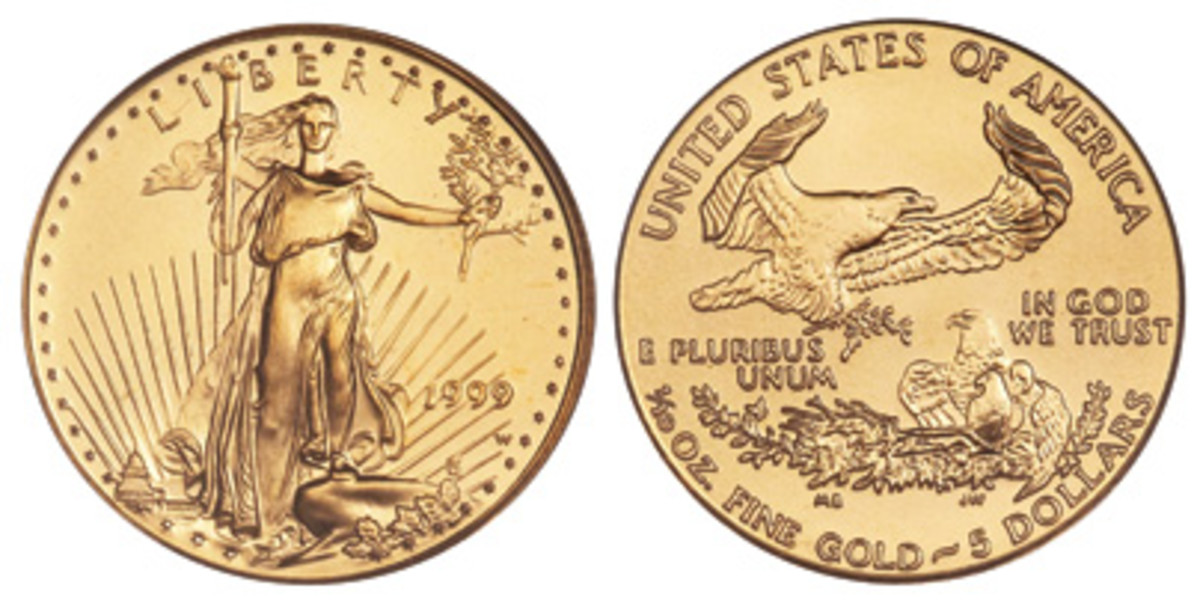 Tenth-ounce gold American Eagle coins are affordable and popular among collectors.