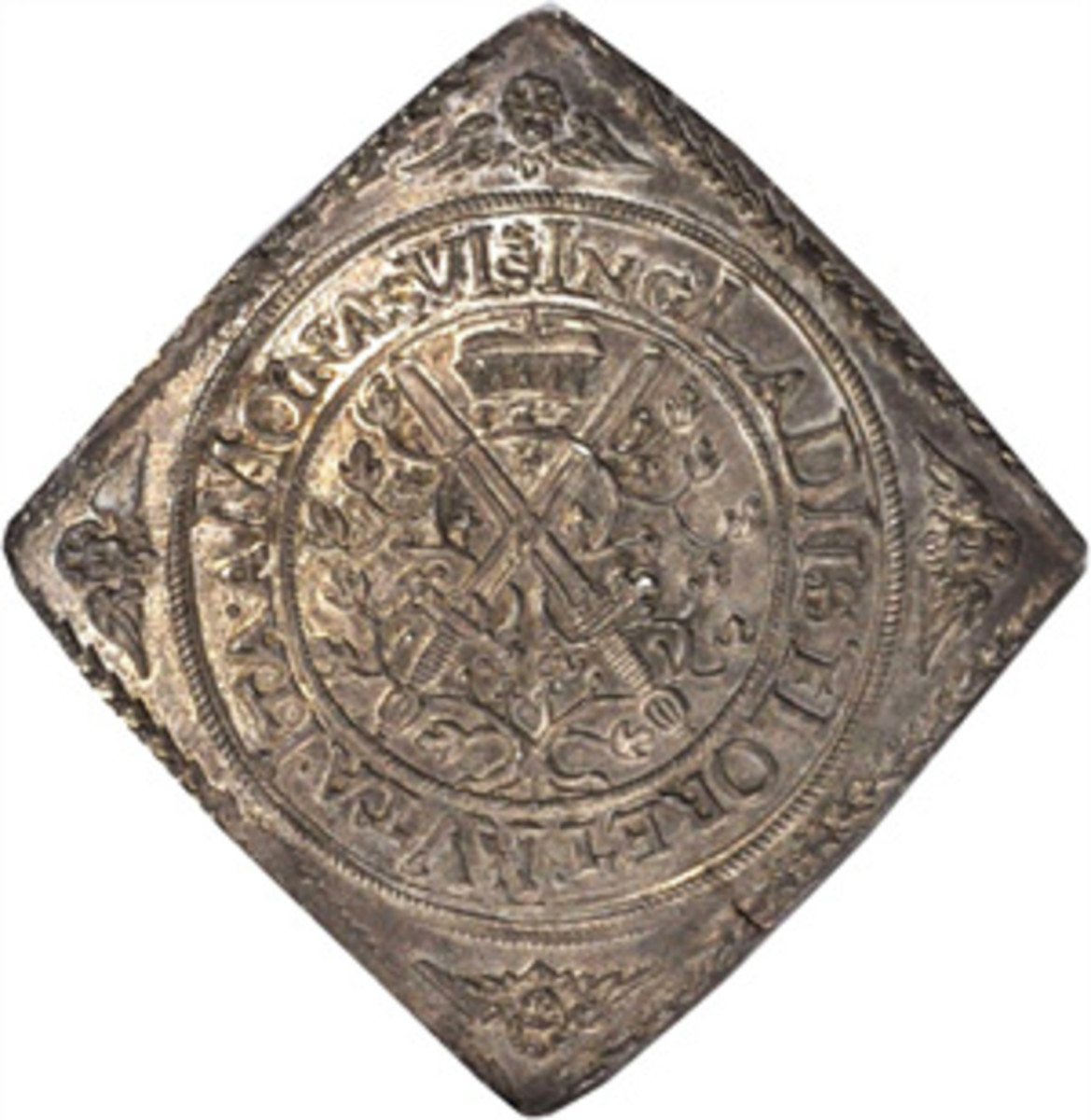 Klippe of Saxony with chronogram date in legend MDLLVVIIII = 1614. (Image courtesy Stack's Bowers)