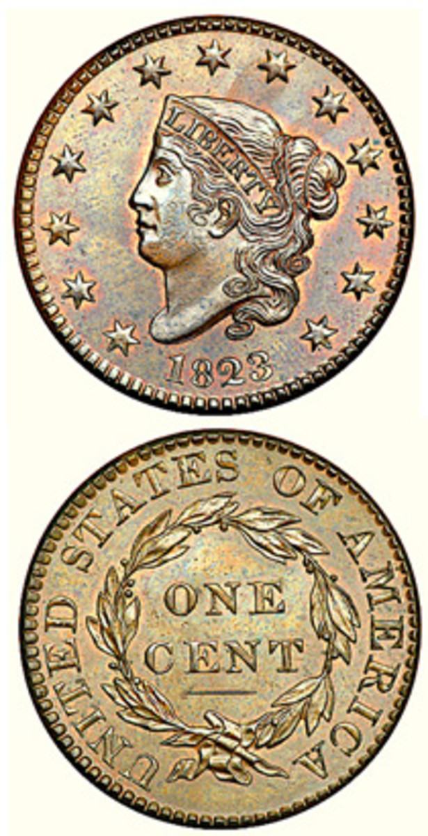 The 1823 cents were struck after that year.