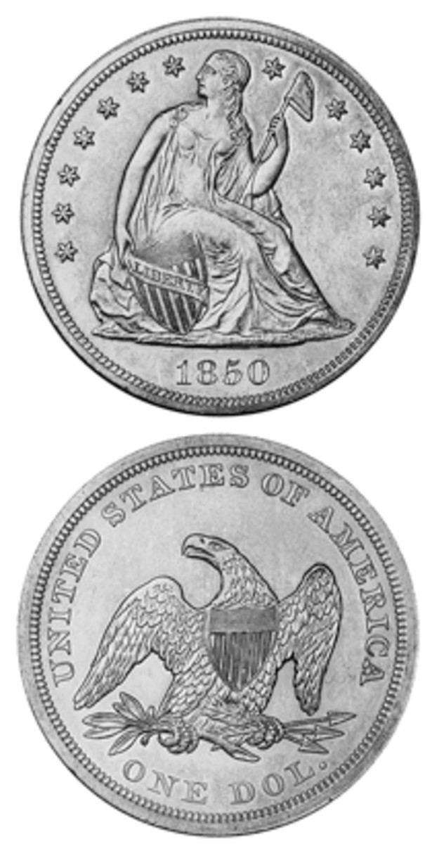 A small mintage, lack of contemporary interest, the Gold Rush, threat of melting, and exportation overseas are factors that led to the limited supply of 1850 Seated Liberty dollars available today.
