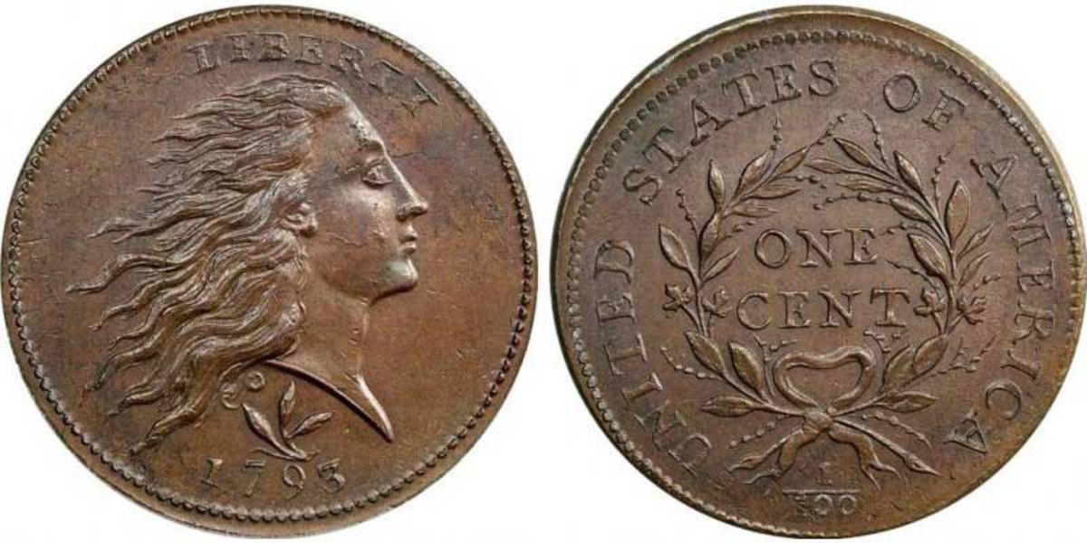 1793 Wreath Cent. Images courtesy usacoinbook.com