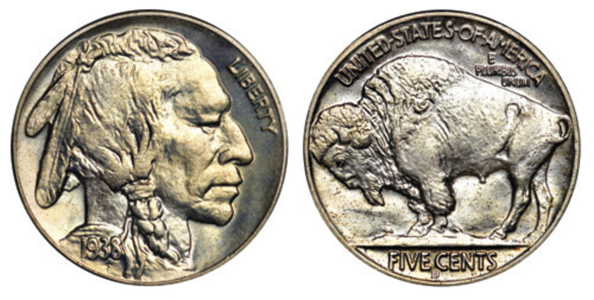 Putting an end to the Buffalo nickel in 1938 was a political decision by the Roosevelt administration, which wanted Thomas Jefferson on the denomination. (Photo courtesy of Heritage)