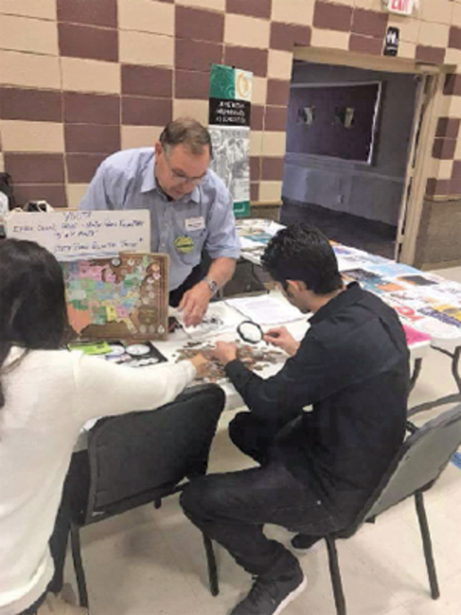Former American Numismatic Association President Walt Ostromecki promoted youth involvement in the hobby at the El Paso show.