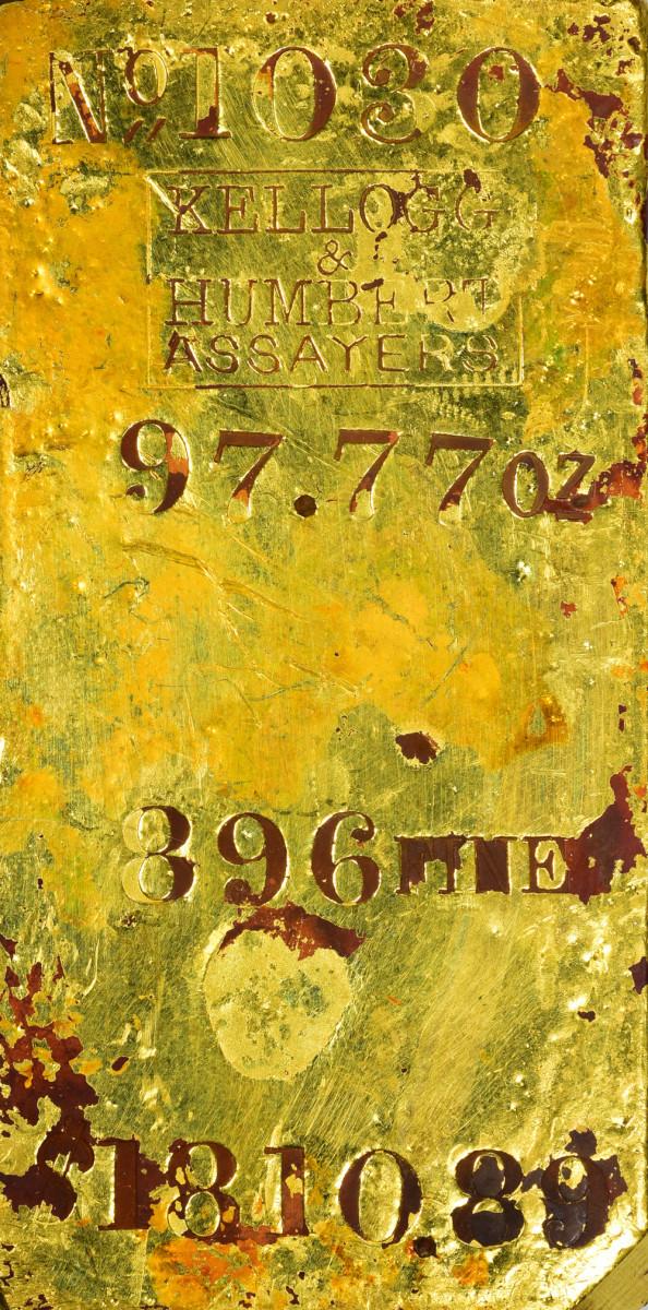 Lot 1364, the 97.77 ounce Kellogg & Humbert ingot that realized $25,200.