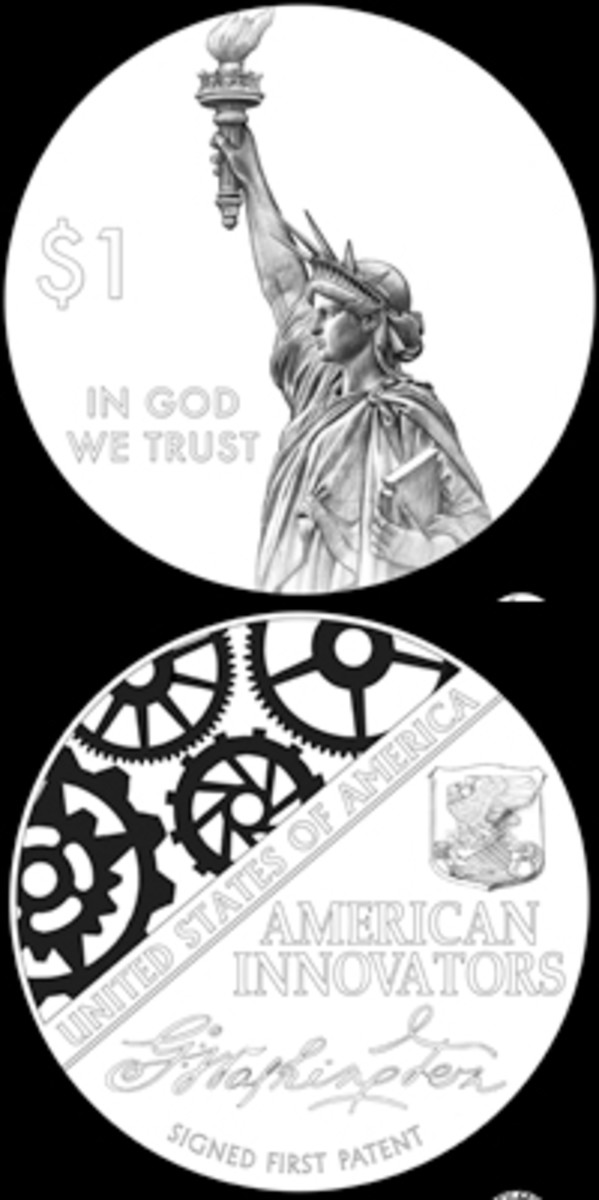 This American Innovators dollar design pair made the cut at a review Sept. 27 by the Citizens Coinage Advisory Committee.