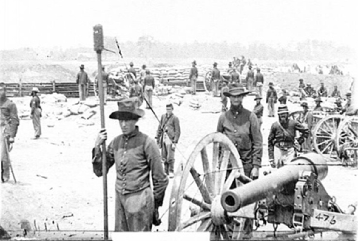 This photo shows Battery B of the 1st New York Light Artillery at the Battle of Seven Pines.