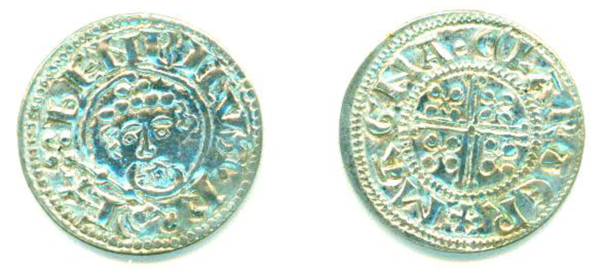 Examples of Dave's tokens, which resemble coins from ancient Britain up through medieval times.