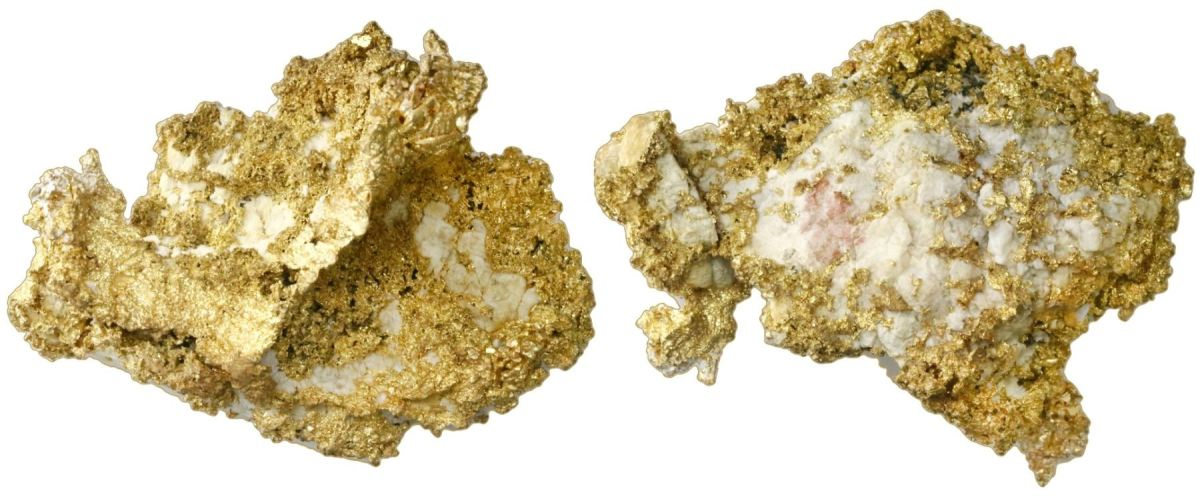 Lot 201:  An interesting large gold-in-quartz specimen, weighing 323.2 grams realized $16,660.