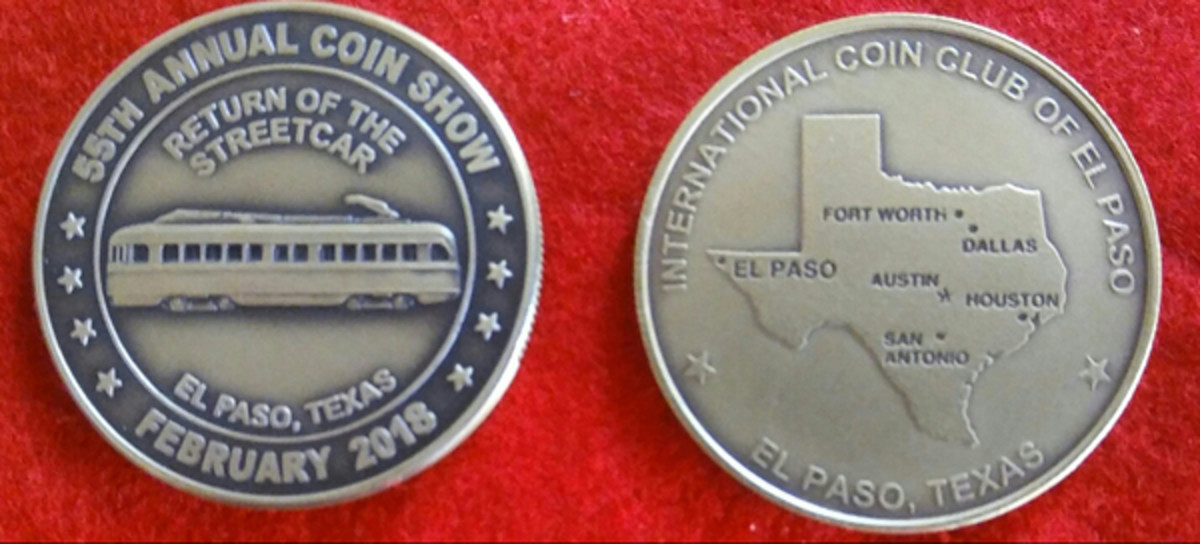 Those who desire streetcar themed medals have the opportunity of ordering them from the International Coin Club of El Paso.