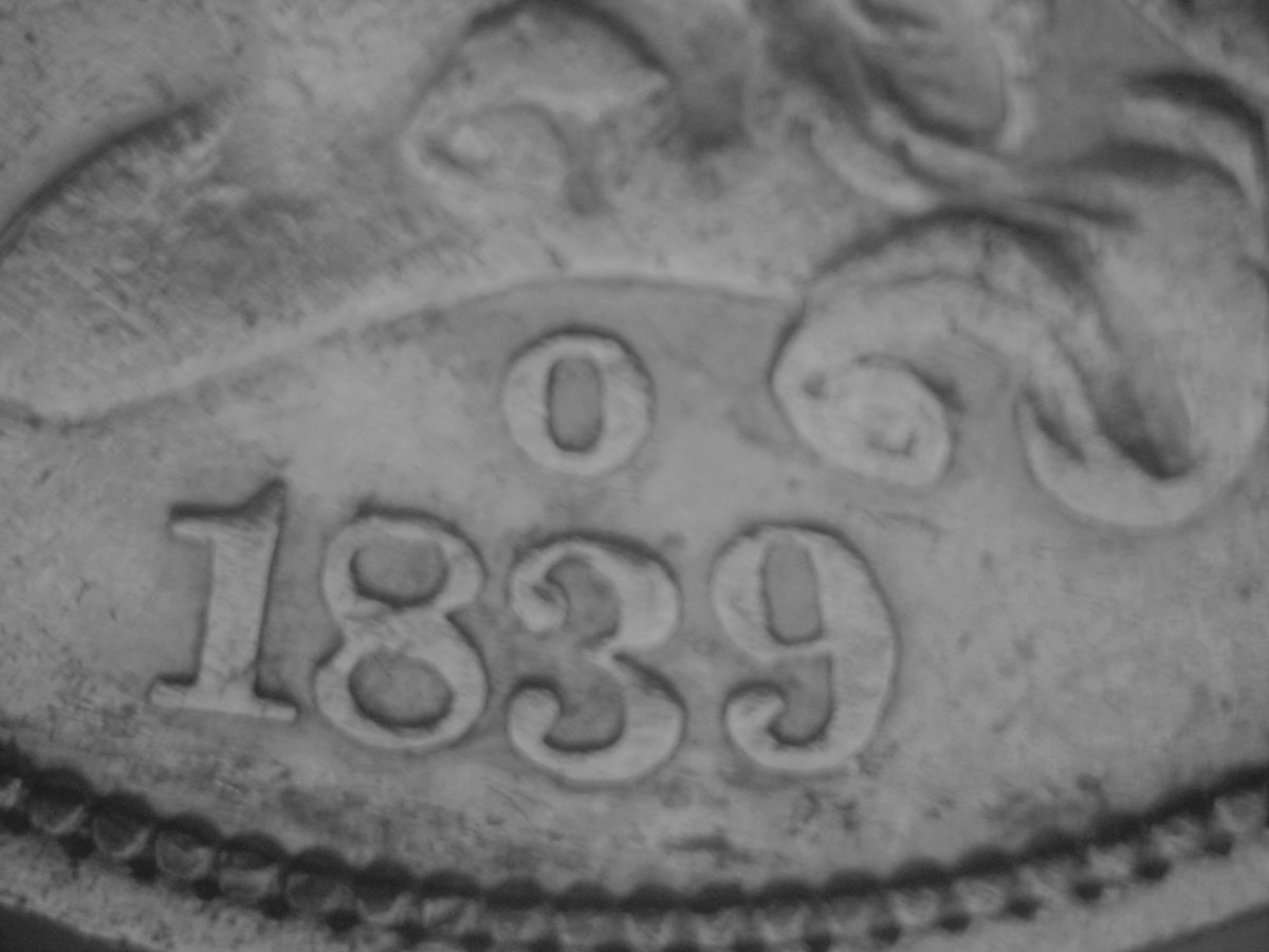 Letter mint mark as used for the New Orleans mint.