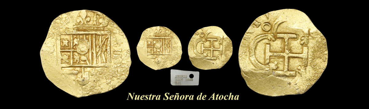 Bidding closed at $33,320 for this lot of 1617-dated gold cob 2 escudos.