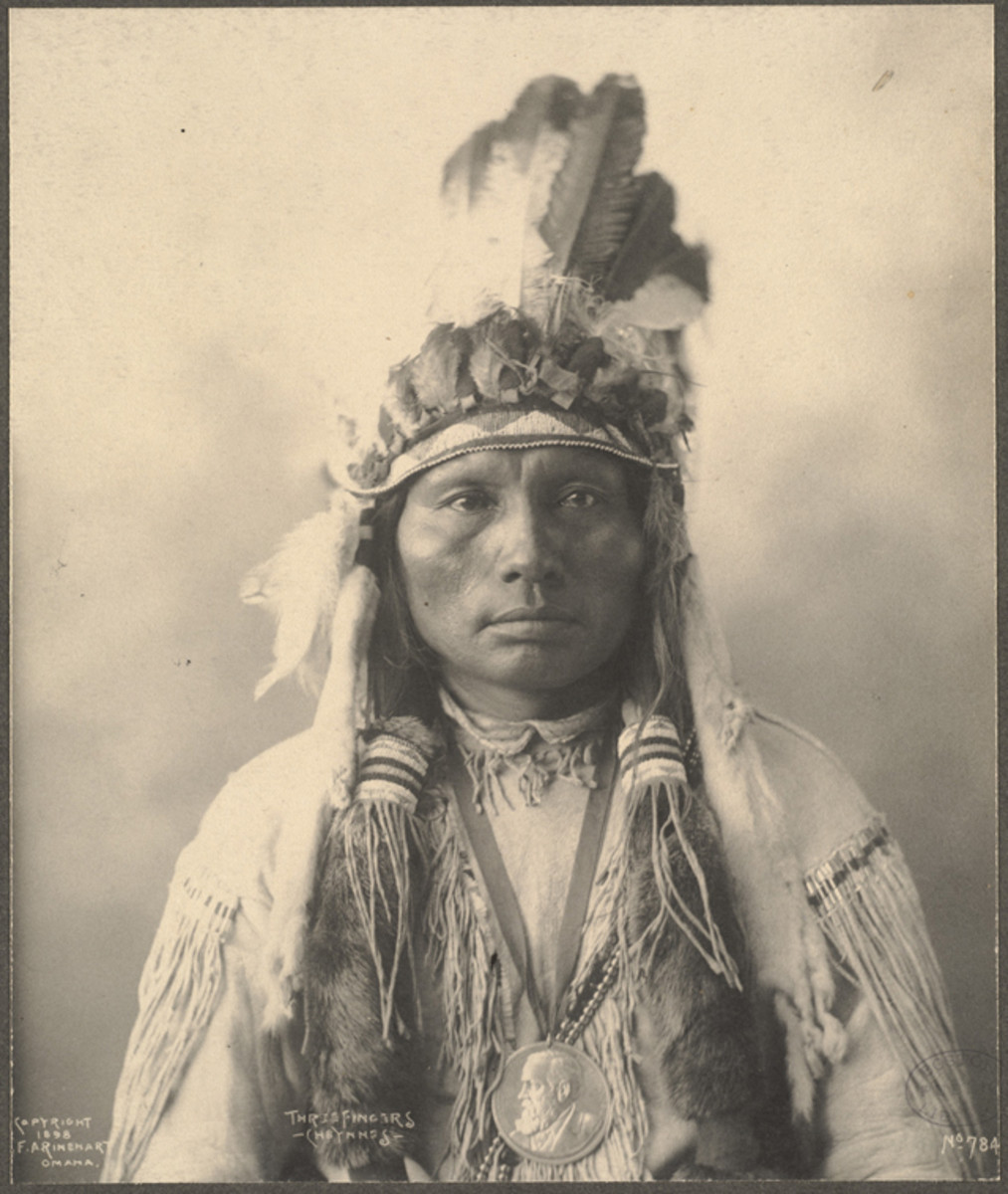 The reverse is engraved with the name THREE / FINGERS, a Cheyenne leader although not one listed among the original recipients.