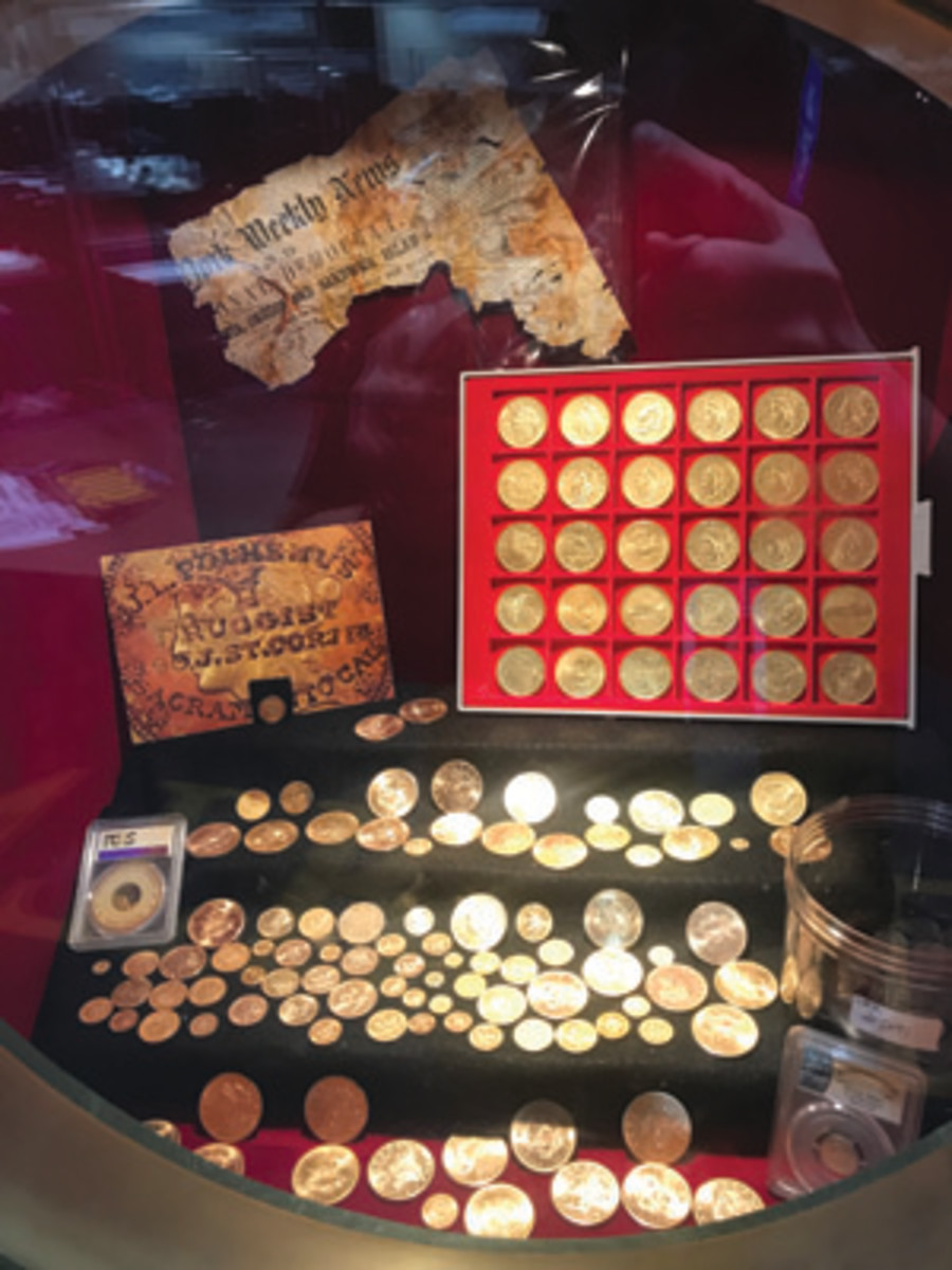 """Gold coins recovered from the """"SS Central America"""" in 2014. (Photo courtesy of Dwight Manley)"""
