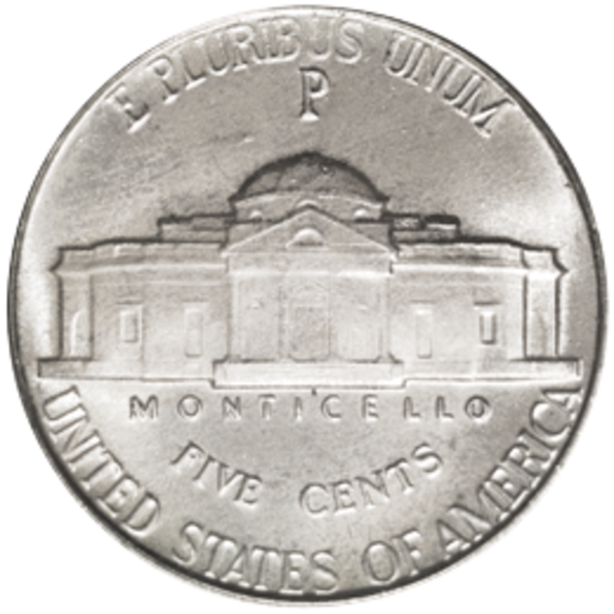 Why does a large mintmark appear above the dome on Monticello on the war nickels of 1942 to 1945?