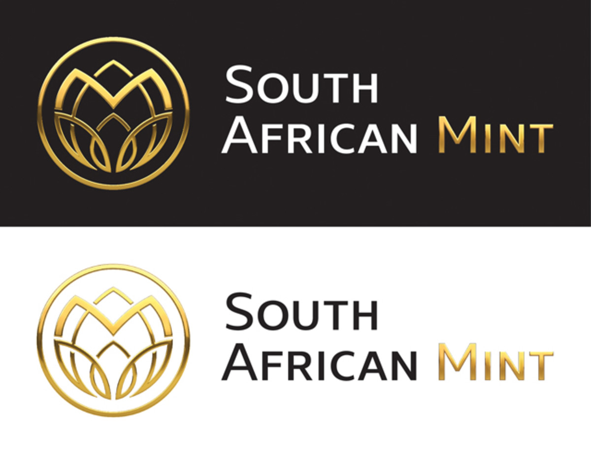 There are two standard versions for the new South African Mint logo.