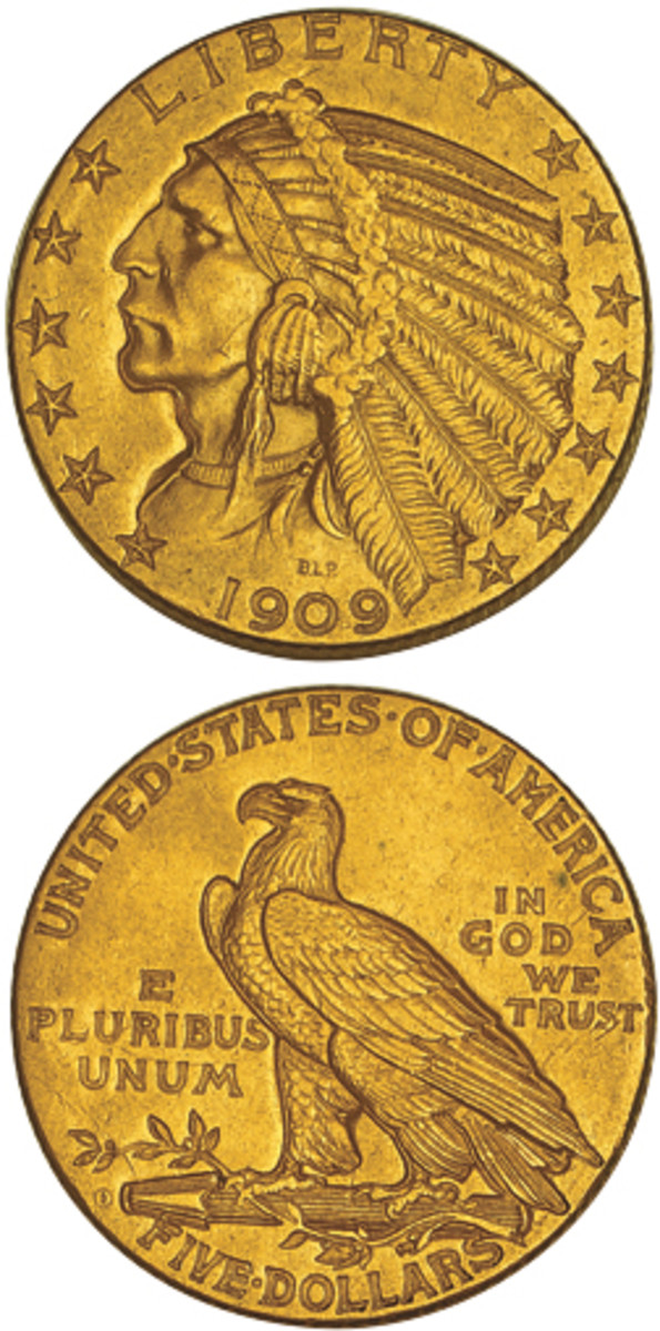 Looking to start a Indian Head half eagle set? You will learn to respect the 1909-O when you see its mintage and prices – an MS-65 example will set you back $550,000.