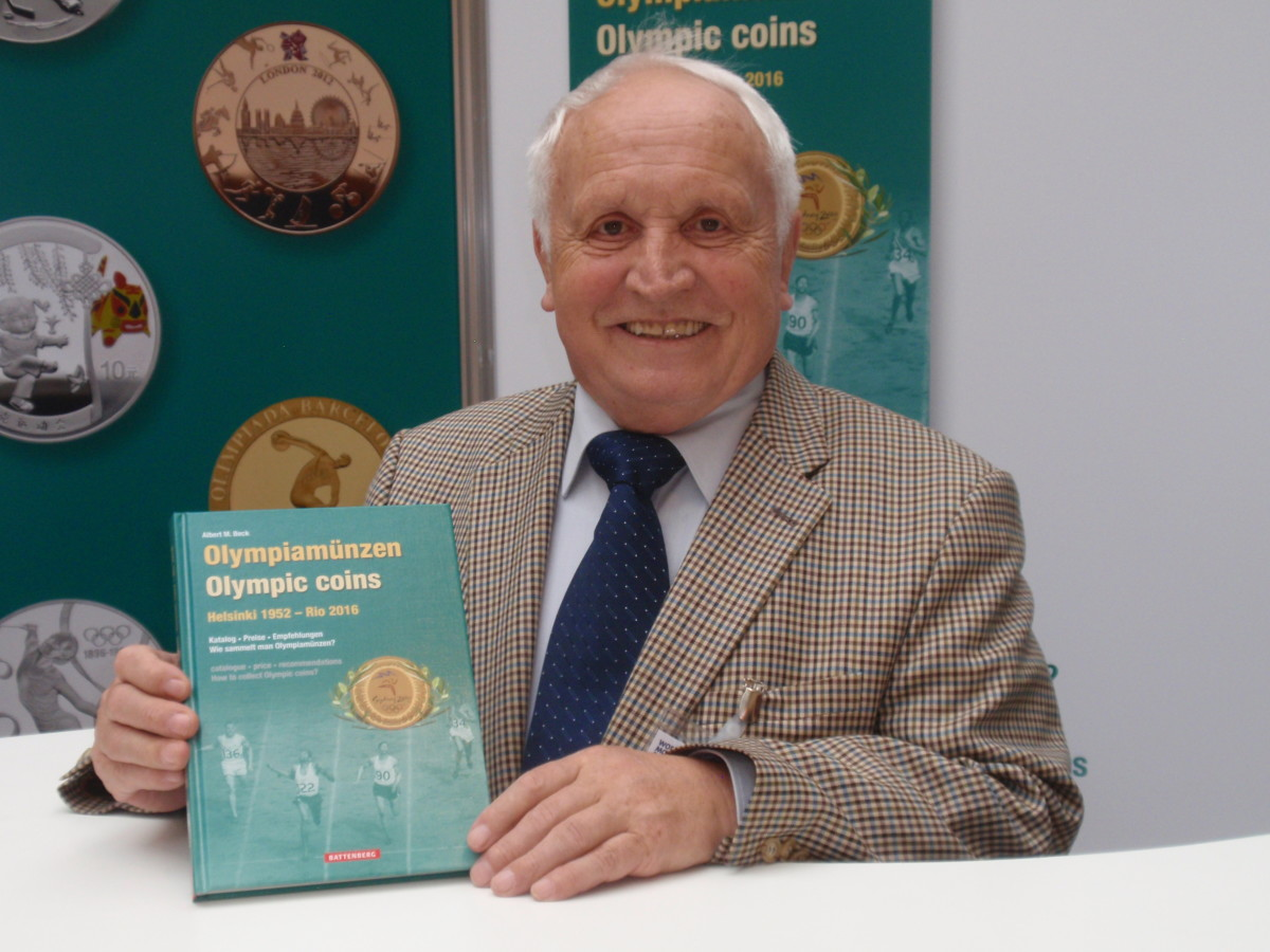 Albert Beck, founder and honorary president of the World Money Fair in Berlin has written a new modern Olympic coin guide book.