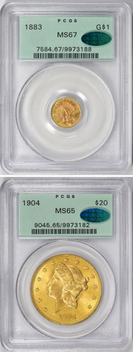 Gold coin results in the latest GreatCollections.com auction showed that quality and time lead to great investment results as 27 coins from the Ruth Weinberg estate were sold Aug. 26.