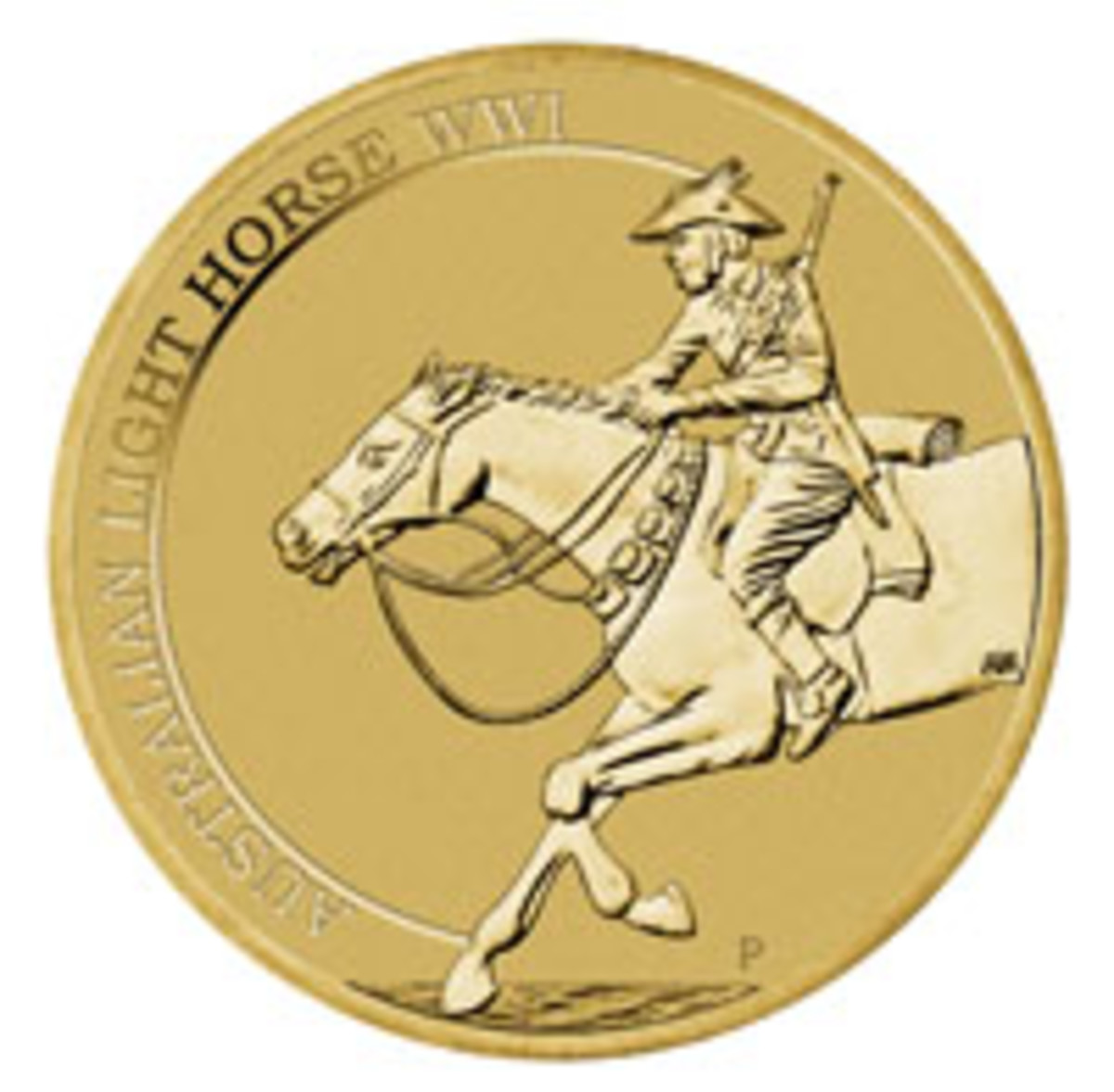 Australia's Light Horse are saluted with $1 coin (above) and $1 stamp on a first day of issue PNC (below). (Images courtesy & © The Perth Mint and Australia Post)