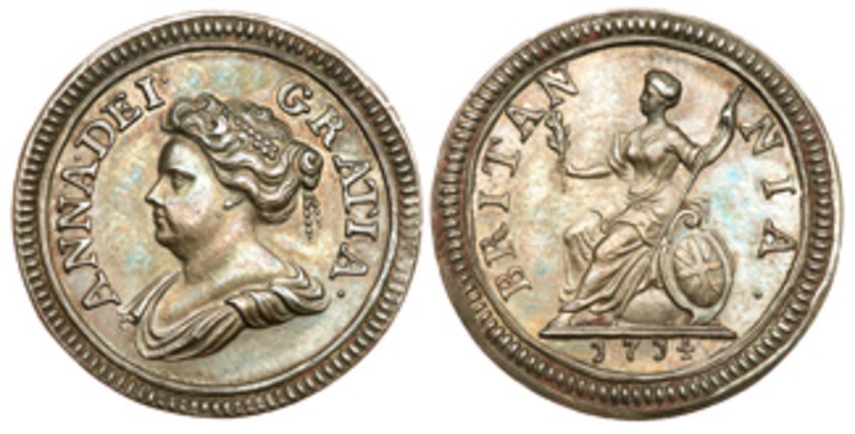 1714 farthing. (Images courtesy Goldberg)
