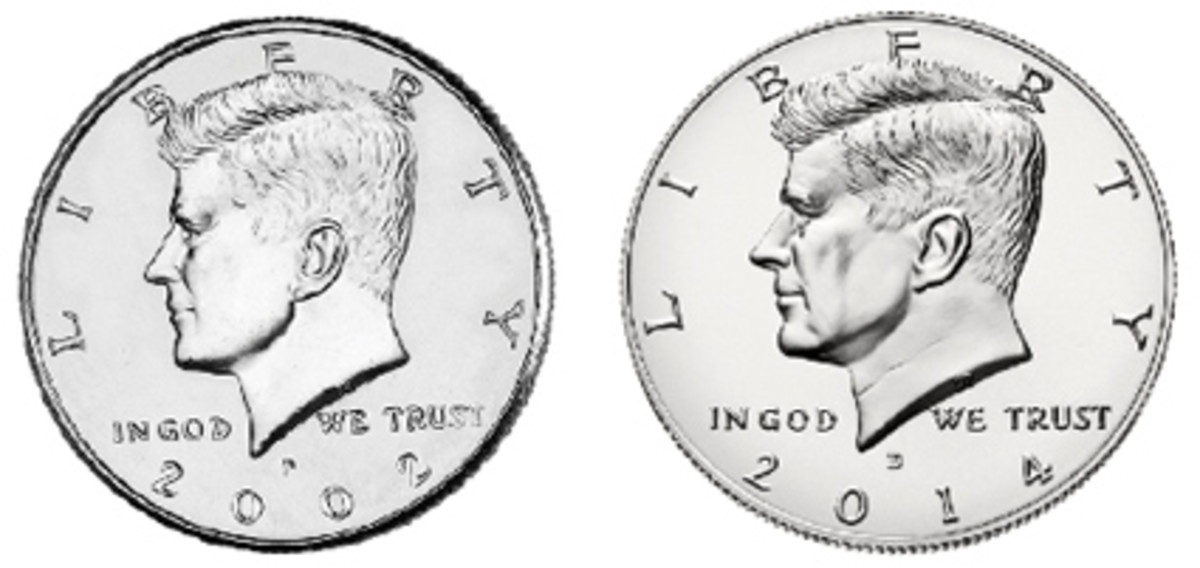 In 2002, the Mint began striking half dollars only for direct sale to collectors. In 2014, as part of the 50th anniversary efforts, the portrait as well as the rest of the design was restored to all its 1964 glory.