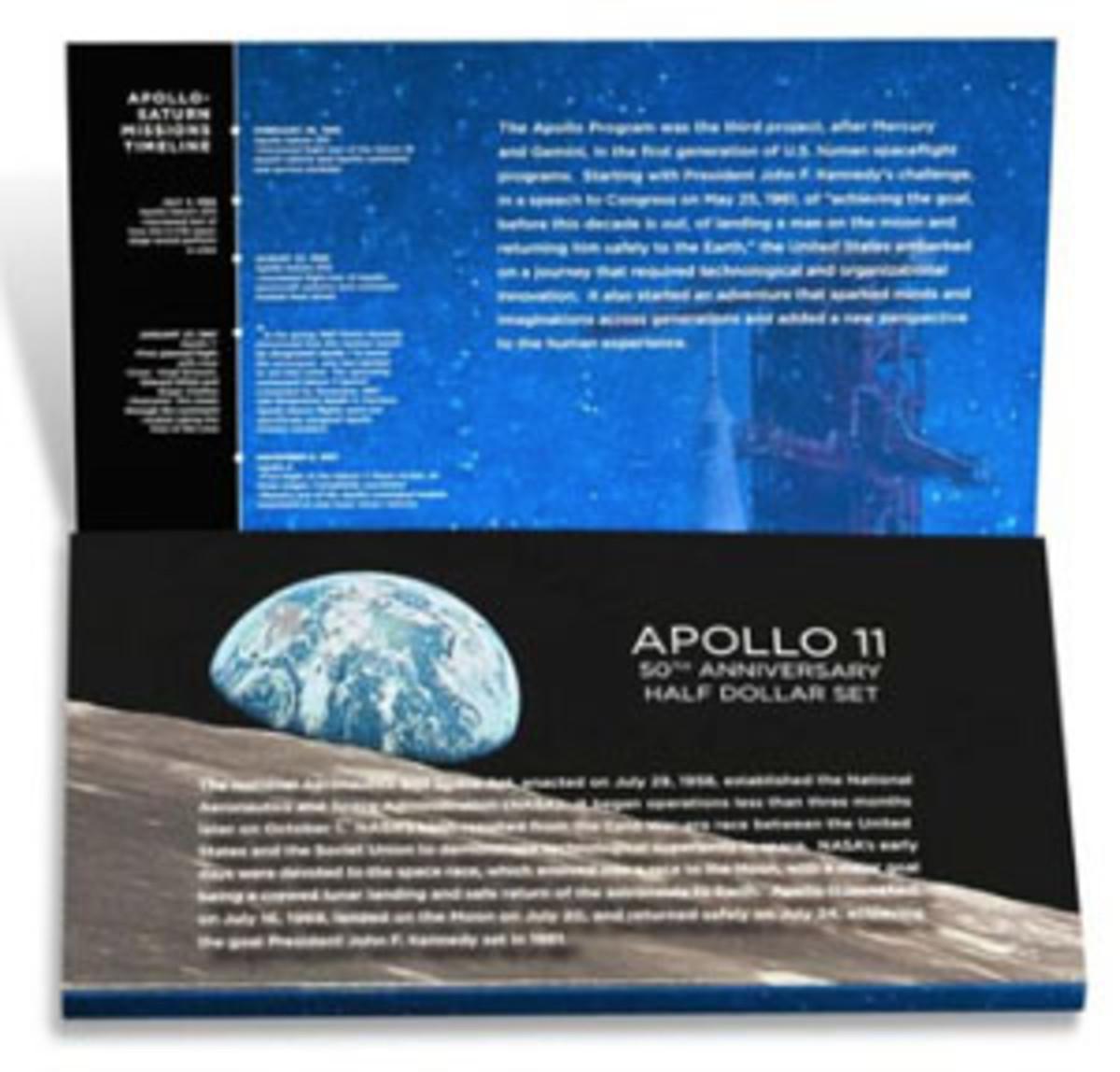 Apollo 11 50th Anniversary 2019 Proof Half Dollar Set