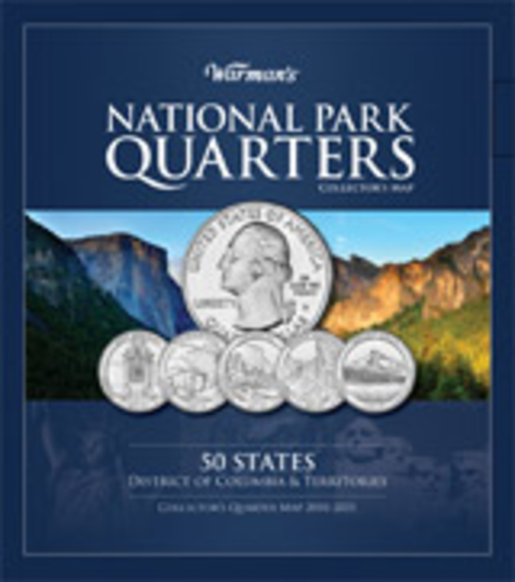 National Park Quarters Collector's Map