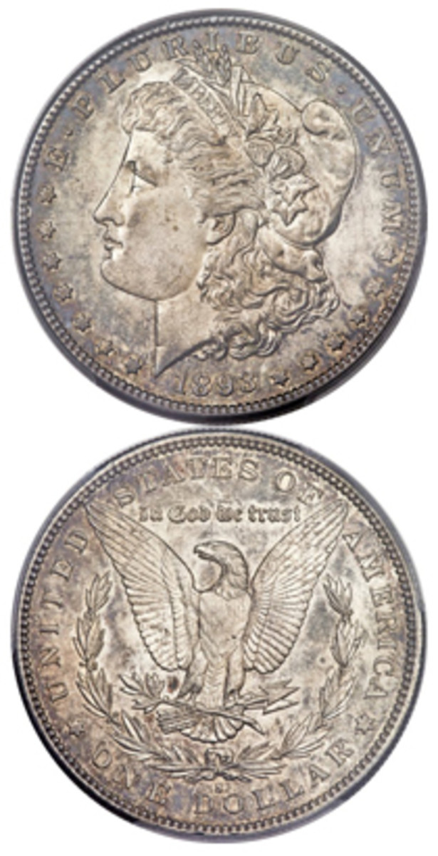 1893-S Morgan in MS-61