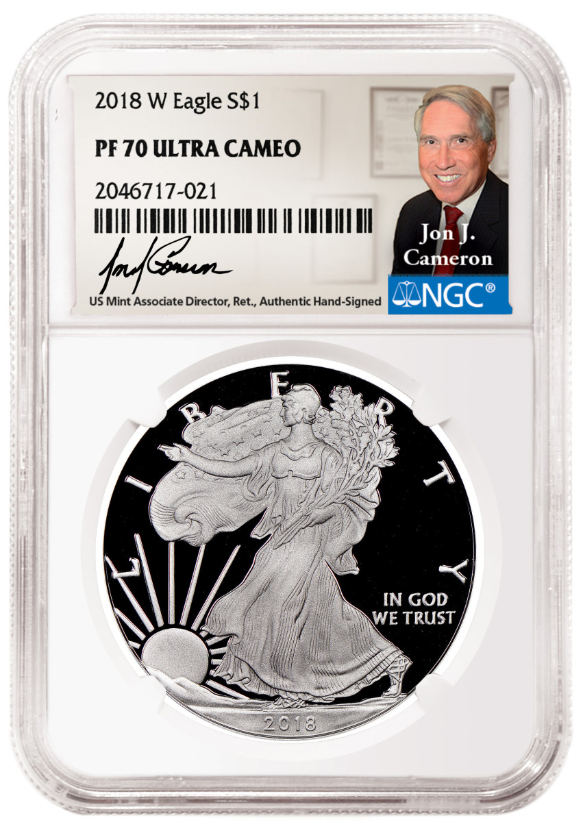 Jon Cameron label and coin