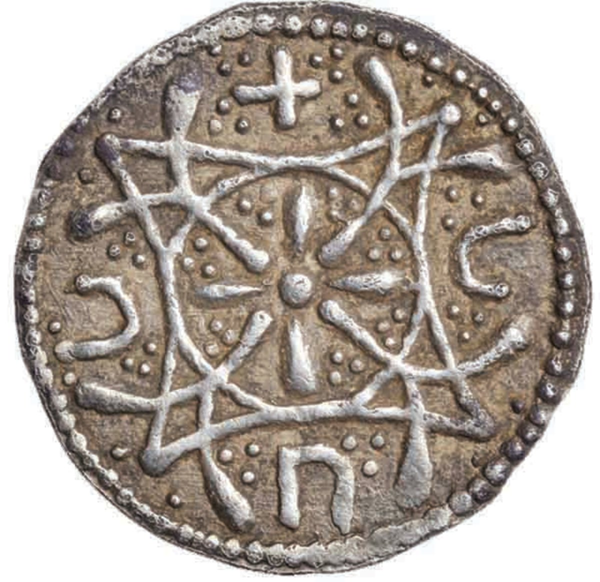 Reverse of the Anglo-Saxon silver penny at auction