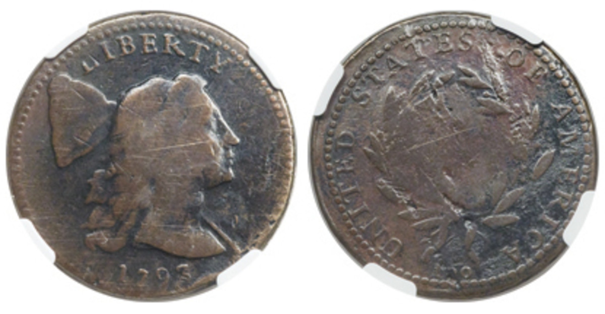 A Padula Family Collection 1793 S-15 cent offered in Heritage's September Long Beach sale is the fifth-finest known.