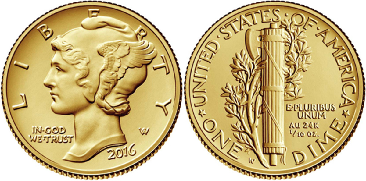 The 2016-W gold Centennial Mercury dime proves the classics never die.