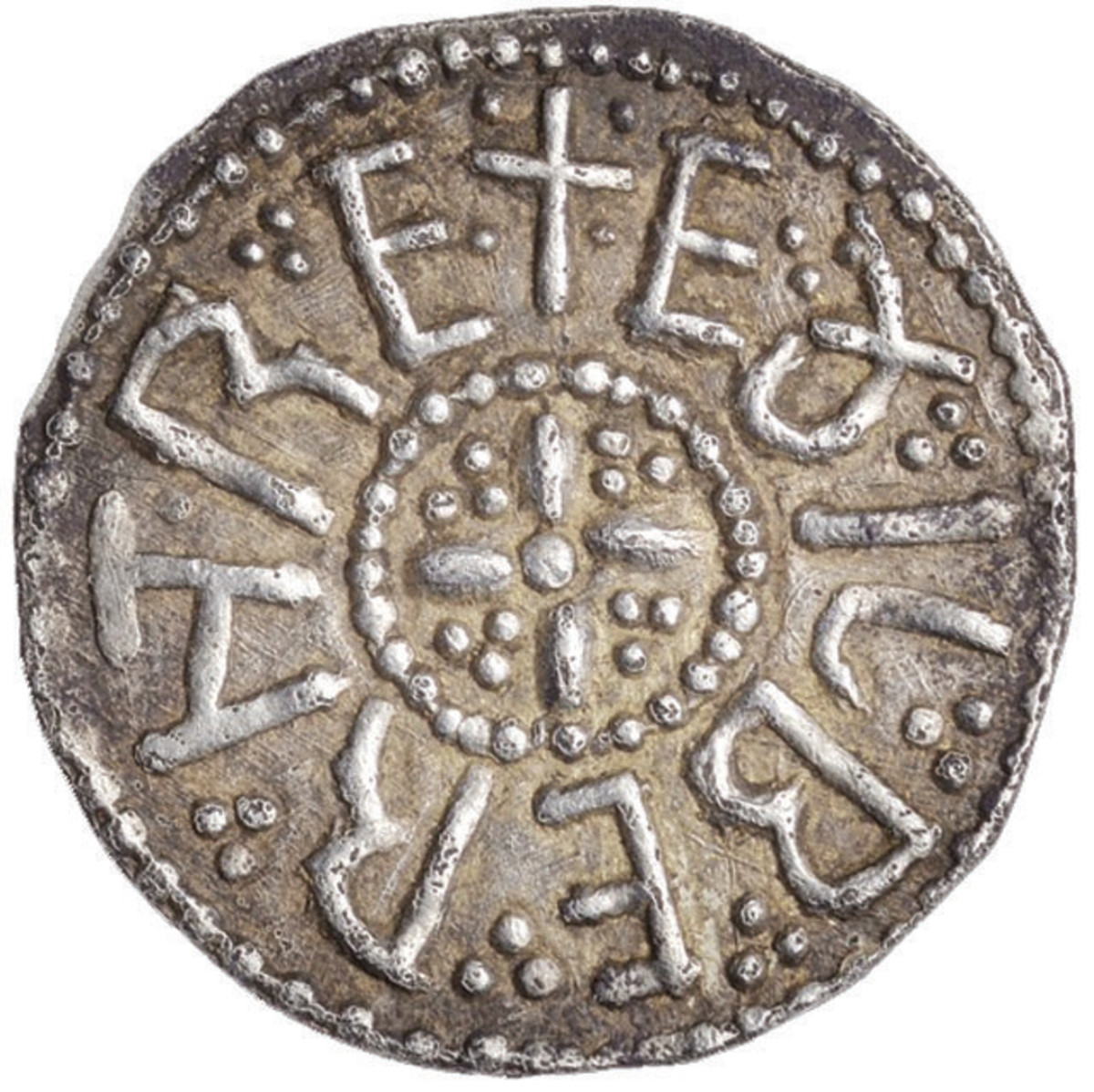 Obverse of the Anglo-Saxon silver penny at auction