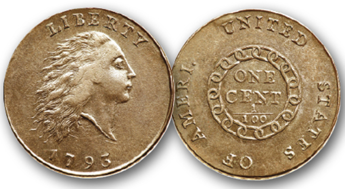 1793 Chain cent with AMERI.