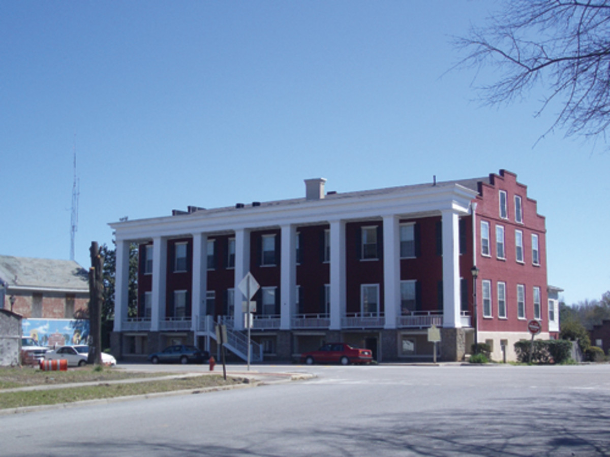 Here is the impressive LaFayette Hotel in Sparta, which traces its origins back to taverns from the 1820s.