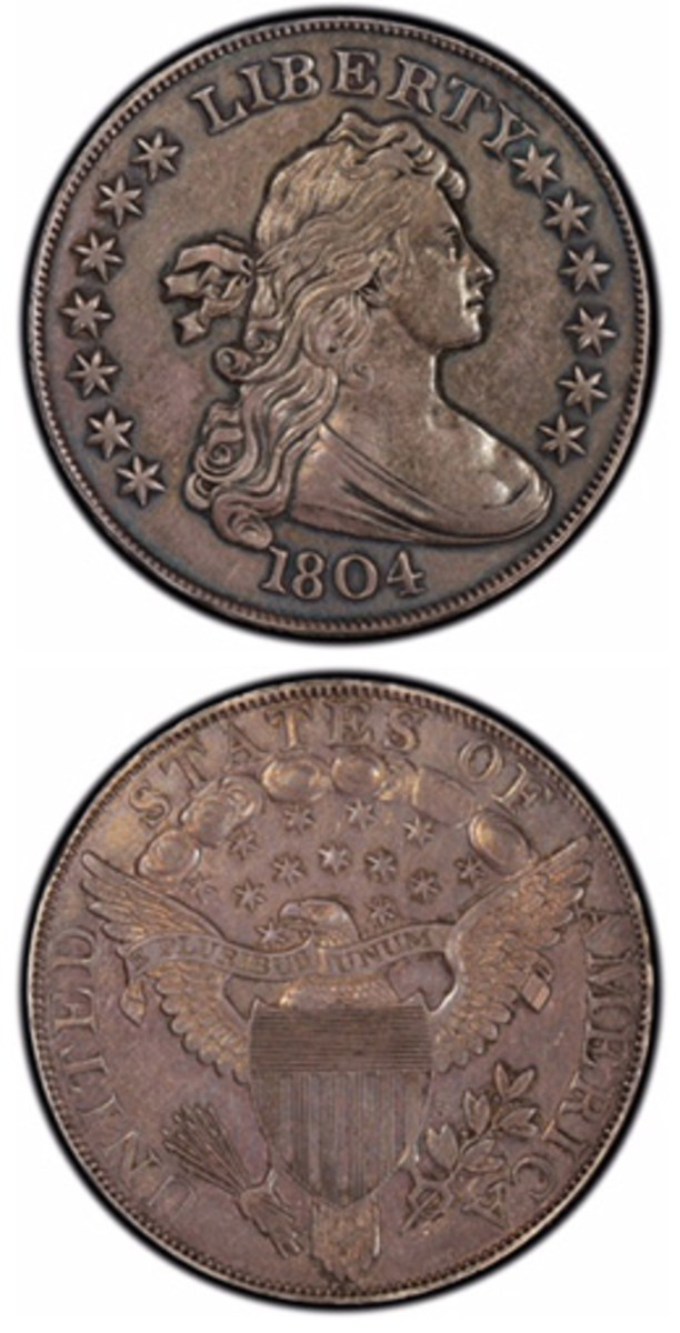 An example of the 1804 dollar sold for $2.64 million at a June Heritage auction.