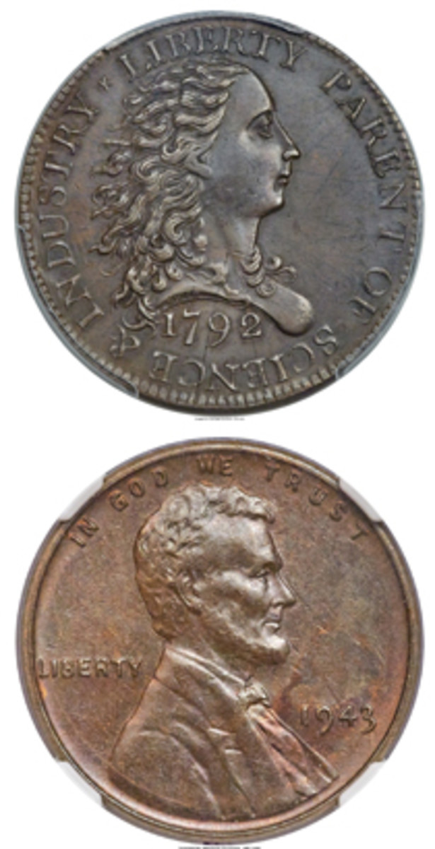 These two cents highlighted U.S. coinage sold by Heritage at the firm's ANA auction.