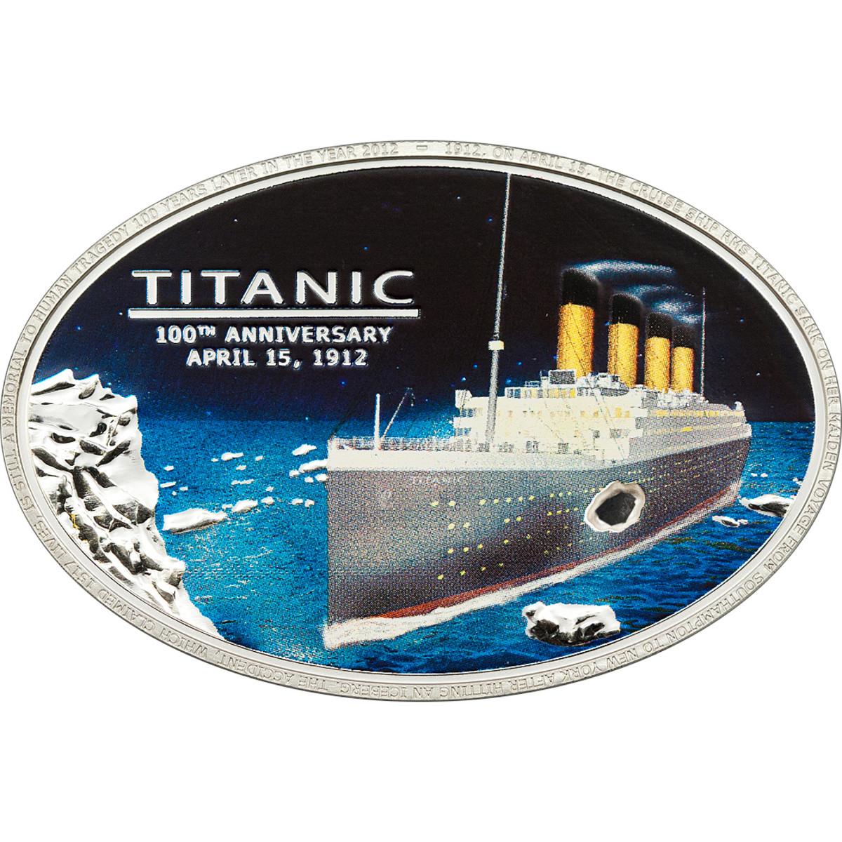 Titanic Cook Island Oval with coal