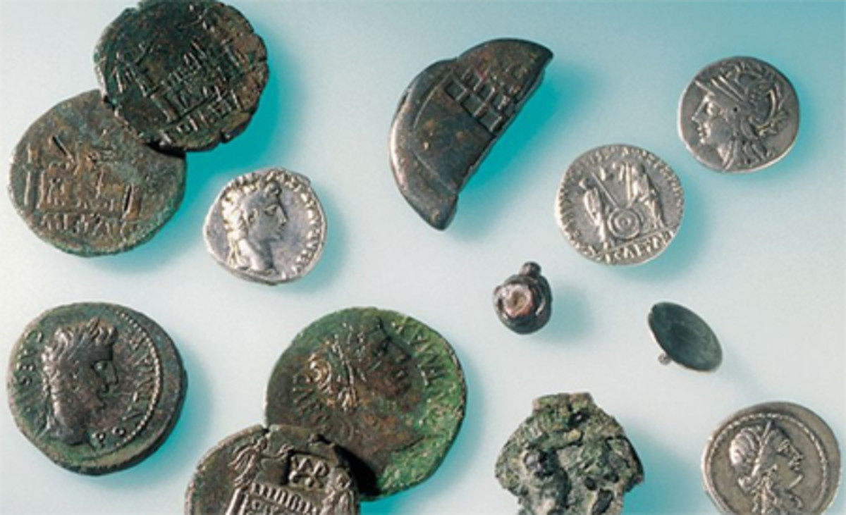 """According to the Kalkriese Museum, """"All coins found in Kalkriese date back to the Roman Republic in the first century BC and the time of Emperor Augustus."""" (Image courtesy www.kalkriese-varusschlacht.de)"""