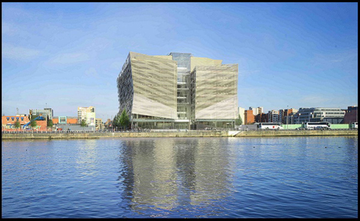 The Central Bank of Ireland will install 15 cashless kiosks in its new headquarters, pictured here. (Image courtesy of the Central Bank of Ireland)