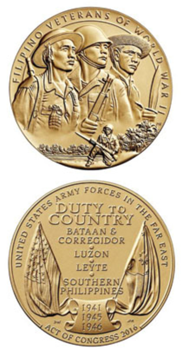 Collectors can buy bronze duplicates of the Congressional Gold Medal awarded to Filipino veterans of World War II.