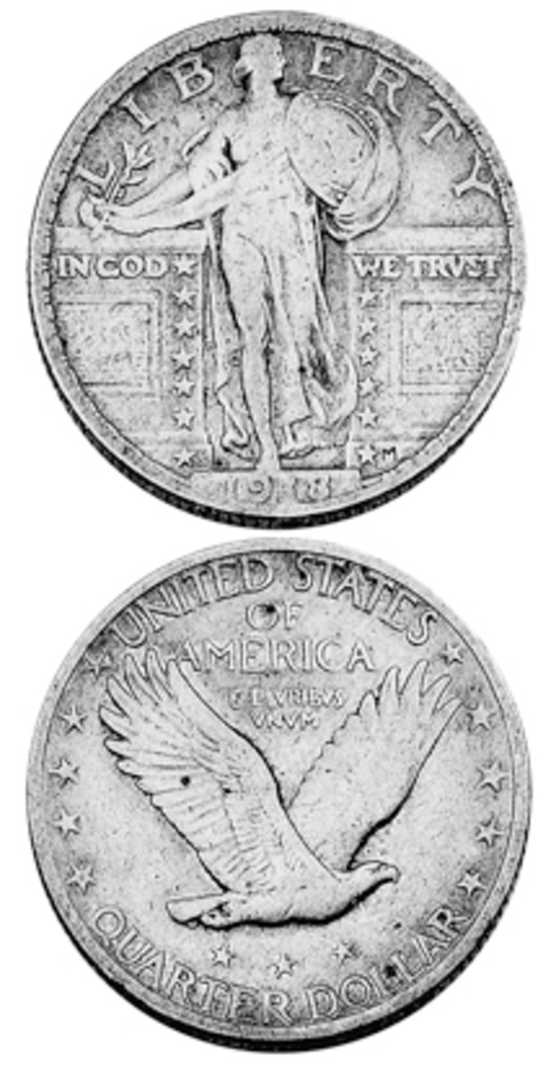 Many of today's collectors saw well worn Standing Liberty quarters in their change years ago. Few were lucky enough to find a 1918/7-S overdate among them.