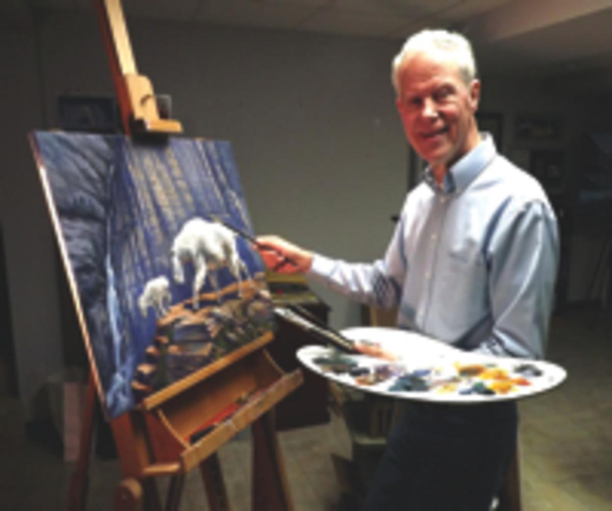 Len Buckley painting