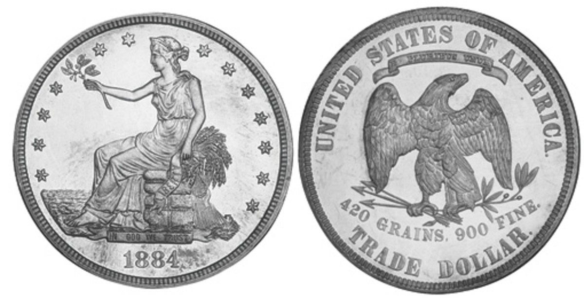 The Seated Liberty Trade Dollars with high Mint totals can be difficult to find. But finding an 1884 Proof would be a once-in-a-lifetime find for any collector, with only ten having been produced.