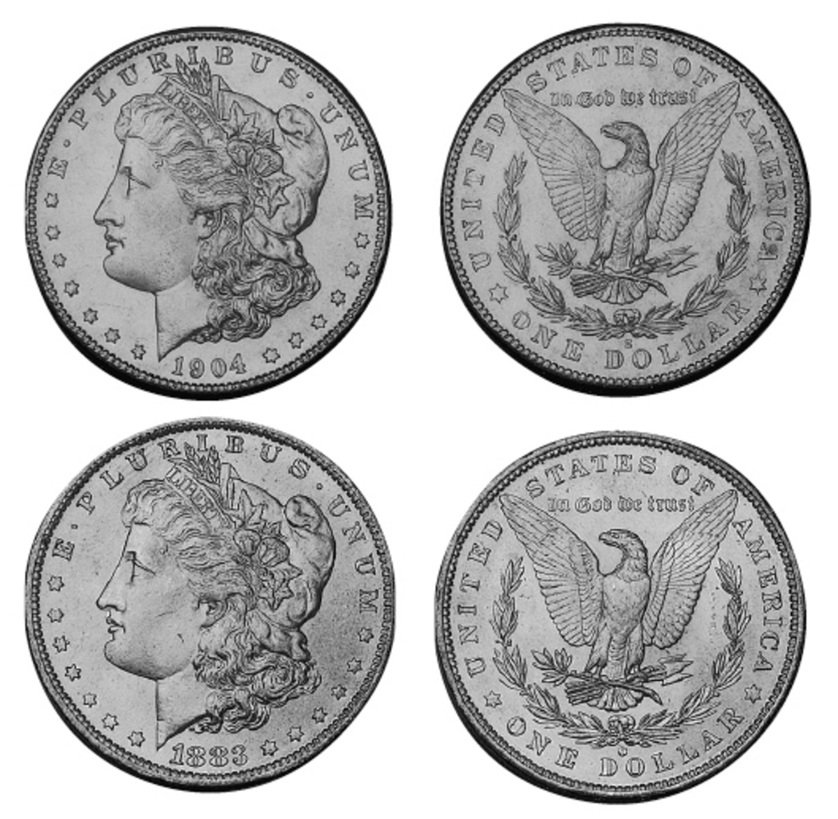 The author discovered examples of both 1904-S and 1883-O Morgan silver dollars in junk boxes.