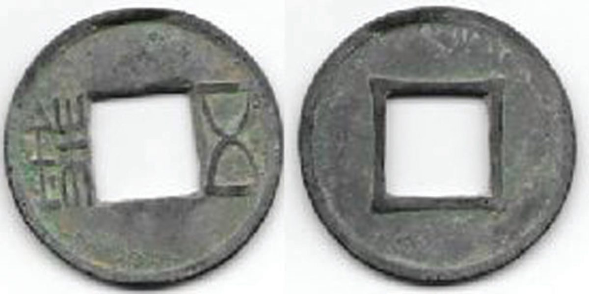 Ten tons of Chinese wu zhu coins were discovered at the tomb of short-reigning Emperor Liu He.