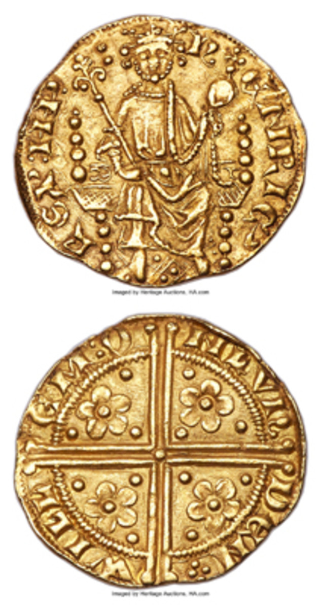 English super-rarity: the superbly struck 761-year-old gold penny of Henry III that will be offered by Heritage Auctions in January with a grade of MS-63 NGC. (Images courtesy www.ha.com)