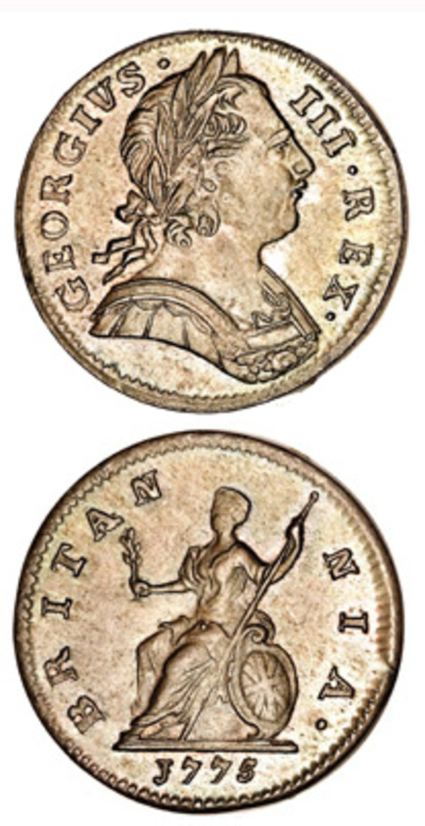 1775 farthing. (Image courtesy of Heritage)